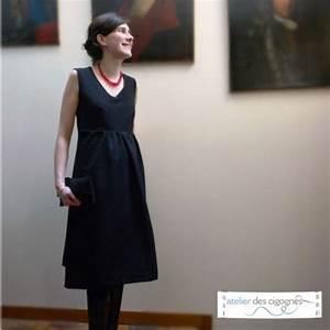 Gaia patron couture robe de grossesse atelier des cigognes for Patron robe grossesse