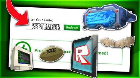 september  working promo codes  roblox  roblox