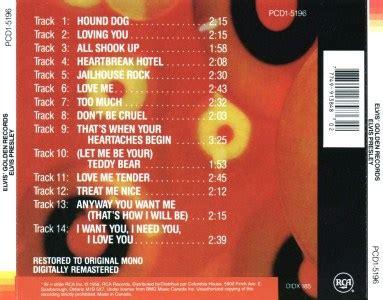 Bmg Cd Club by Elvis Golden Records Canada 1995 Crc Bmg Pcd1 5196