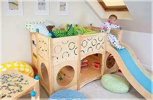 Kinderzimmer Bett Mit Rutsche : indoorspielplatz erstaunliche ideen zur inspiration ~ Sanjose-hotels-ca.com Haus und Dekorationen
