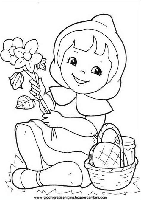 cappuccettorosso disegni da colorare  bambini