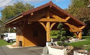 Abri Voiture En Bois : un abri voiture en bois prot g avec un saturateur ~ Nature-et-papiers.com Idées de Décoration