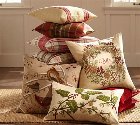 Snowflake Beaded Applique Pillow Cover Pottery Barn by Grainsack Stripe Pillow Cover Pottery Barn