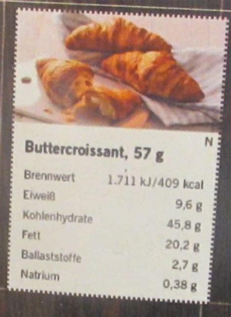 lidl buttercroissant backware frisch kalorien naehrwerte
