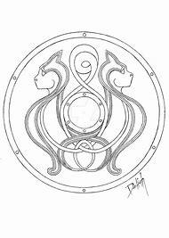 Viking Shield Design Template