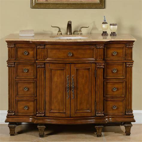 Single Sink Bathroom Vanity by Silkroad Exclusive 48 Quot Single Sink Cabinet Bathroom Vanity