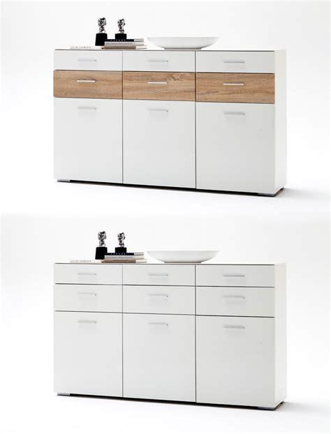 Sideboard Paskal 180x110x40 Weiß Hochglanz Anrichte