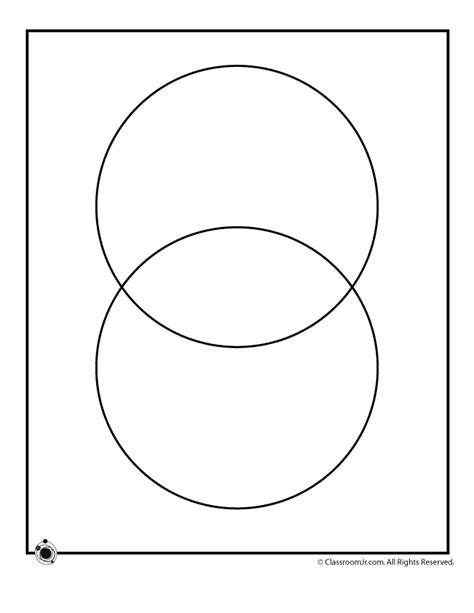printable blank venn diagrams  circle venn diagram