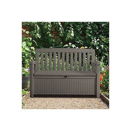 Plastic Garden Storage Bench Box  Departments  Diy At B&q