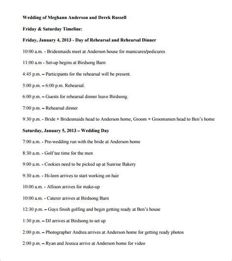 Wedding Timeline Template 29 Wedding Timeline Template Word Excel Pdf Psd