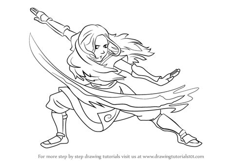 Learn How To Draw Katara From Avatar The Last Airbender