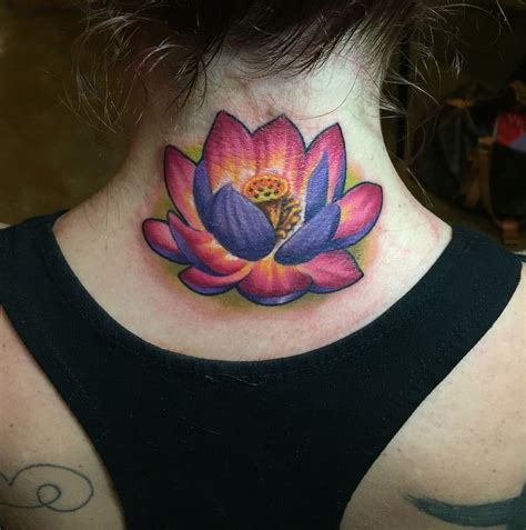 purple lotus tattoo ideas  pinterest lotus