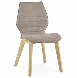 Chaise Tissu Design : chaise design linda en tissu chaise au style scandinave ~ Teatrodelosmanantiales.com Idées de Décoration