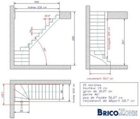 calcul d un escalier 1 4 tournant