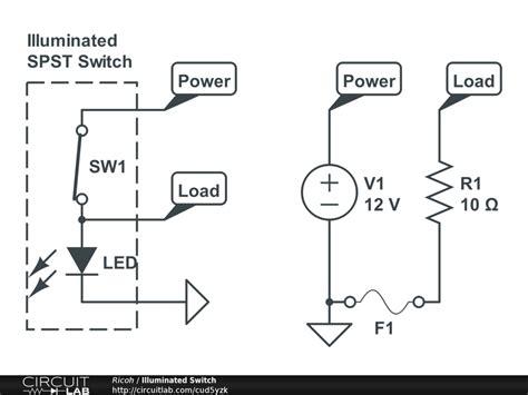 Illuminated Spst Switch Basic Electronics New