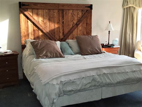hand crafted barnwood headboard  custom  furniture