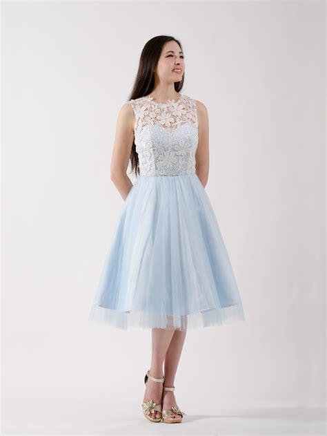 lace bridesmaid dress ice blue