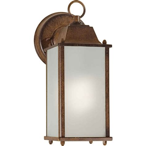 shop 11 in h rustic outdoor wall light at lowes