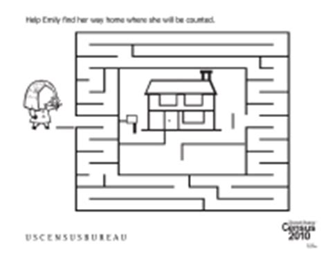 census worksheets find your way home maze schoolfamily