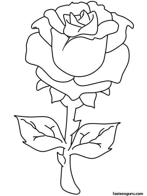 coloring pages roses az coloring pages
