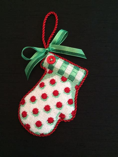 mitten ornament canvas by associated talents christmas