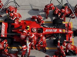 Formula One Ferrari Pit Stop Air View 1600x1200 DESKTOP