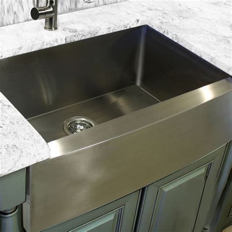 stainless steel kitchen sinks 30 quot zero radius handmade stainless steel farmhouse apron