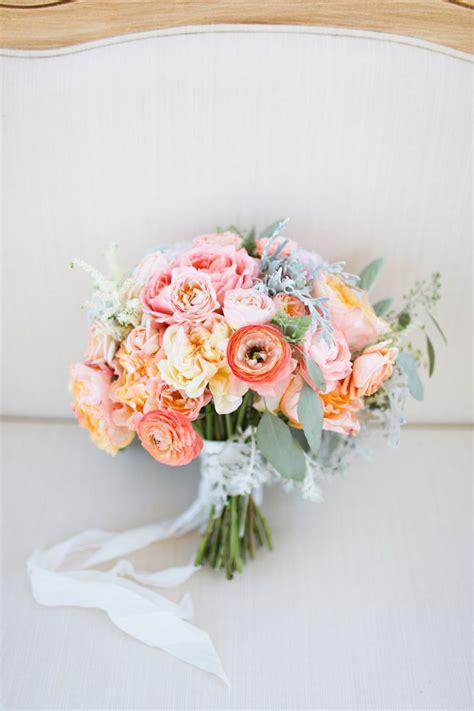 Santorini Weddings Inspiration Pastel Bridal Bouquets