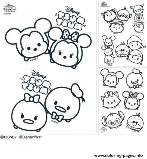 Coloring Tsum Tsum by Disney Tsum Tsum Coloring Pages Printable