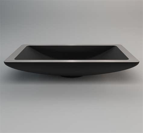 Black Modern Bathroom Sinks by Modern Black Countertop Vessel Sink In Rectangle Shape