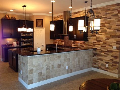kitchen accent wall ideas kitchen remodel wood accent wall contemporary kitchen