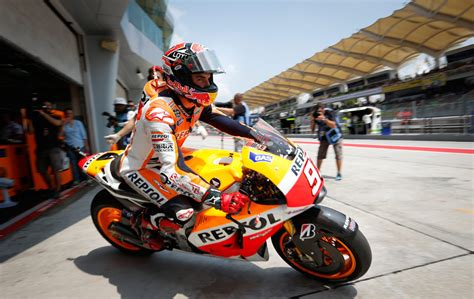 Motogp Rider Marc Marquez Of Spain Leaves His Pit Garage