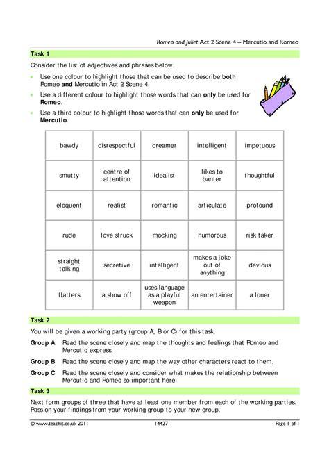 worksheet romeo and juliet timeline worksheet grass