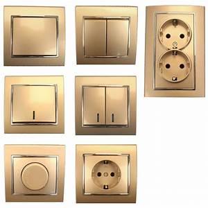 Lichtschalter Mit Kontrollleuchte Kaufen : lichtschalter serienschalter dimmer steckdose farbe champagner silber ebay ~ Buech-reservation.com Haus und Dekorationen
