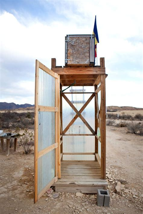 Solar Shower - middle solar power and deserts on