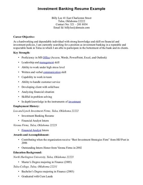career objective resume for finance field career objective resume finance