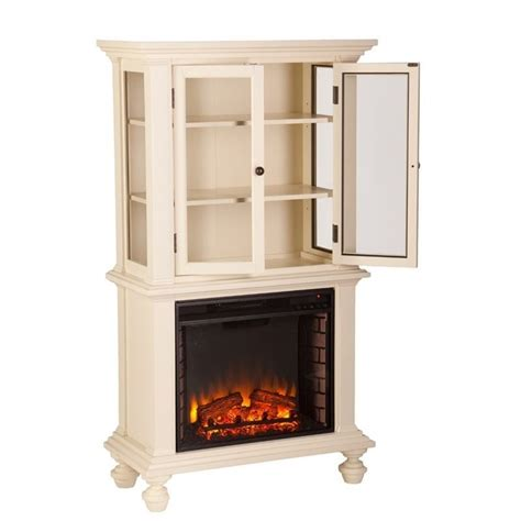 White Electric Fireplace With Bookcase by Southern Enterprises Townsend Electric Fireplace Bookcase
