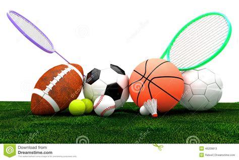 sports equipment stock illustration image