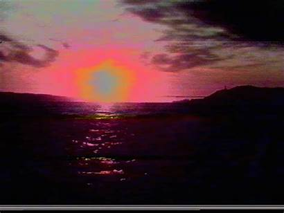 Sunset Landscape Sun 80s Vhs Retro Summer
