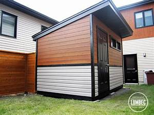 Custom modern shed and Fence - Modern - Garage And Shed