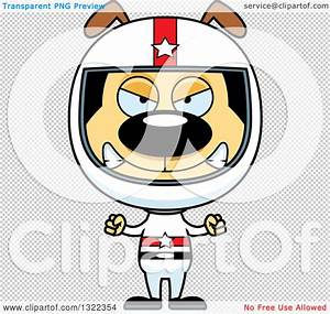 Clipart of a Cartoon Mad Dog Race Car Driver - Royalty ...