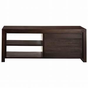 Meuble Tv Manguier : meuble tv en manguier massif teint l 130 cm java maisons du monde ~ Teatrodelosmanantiales.com Idées de Décoration