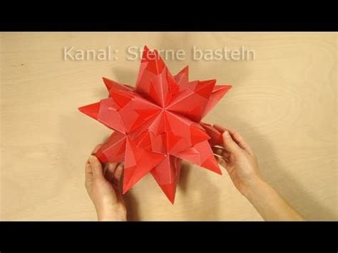 sterne falten bascetta stern basteln origami youtube