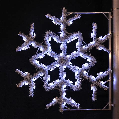 lowes lighted christmas decorations shop holiday lighting specialists 4 ft garland snowflake