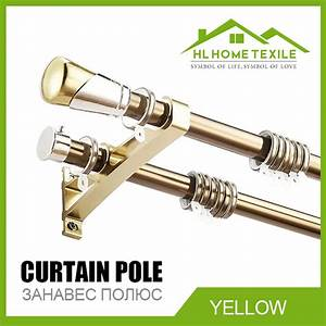 2015 new luxury double curtain rods high quality aluminum for Curtain rods brackets accessories