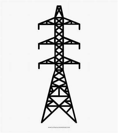 Transmission Tower Coloring Clipart Clipartkey