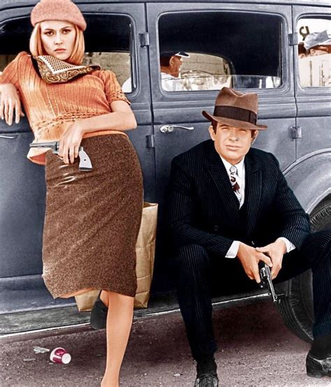 Faye Dunaway and Warren Beatty in 'Bonnie and Clyde' (1967 ...