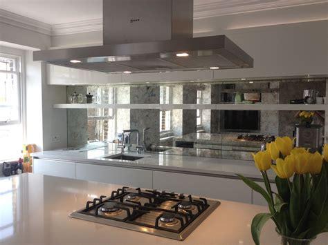 Mirrored Backsplash In Kitchen by Mirrored Kitchen Splashbacks Saligo Design Presents A