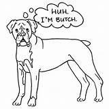 Boxer Coloring Dog Butch Puppy Drawing Template Adult Sheet Getdrawings Sketch Place Coloringhome sketch template