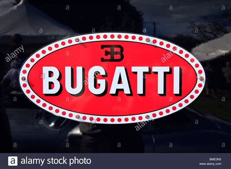 Macaron is the term bugatti uses for its distinctive enamelled oval badge, dating to the art nouveau heyday. Bugatti Car Emblem Stock Photos & Bugatti Car Emblem Stock ...